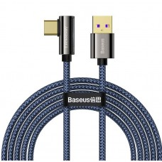 Baseus CACS000403 Legend Series Elbow Fast Charging Data Cable USB to Type-C 66W 1m Blue