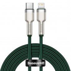 Baseus CATLJK-B06 Cafule Series Lightning Metal Data Cable Type-C to iPhone PD 20W 2m Green