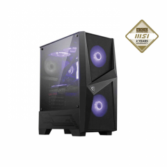 MSI MAG FORGE 100R TG Mid Tower ARGB Chassis Black