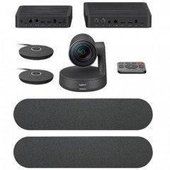 Logitech Rally Plus Video Conferencing Set (8 Pcs Set/Audio Coverage 24 Feet)