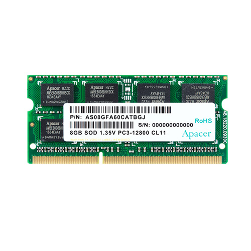 APACER 8GB DDR3 1600MHZ SO-DIMM LAPTOP RAM