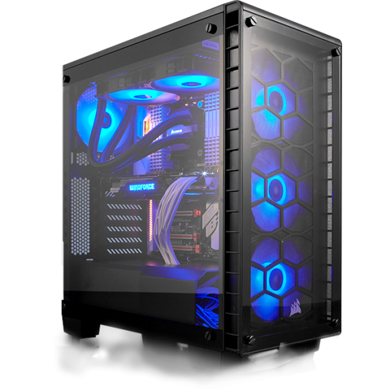 Corsair Carbide Series SPEC-DELTA RGB Tempered Glass Mid-Tower ATX Gaming Case Black