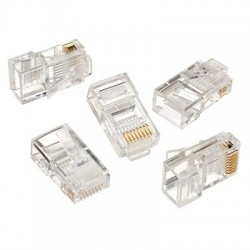 RJ45 Plug Ethernet Gold Plated Network Connector