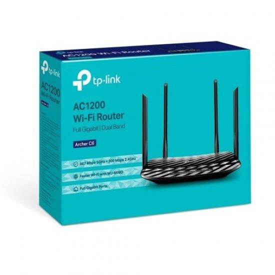 TP-Link Archer C6 AC1200 Wireless MU-MIMO Gigabit Route