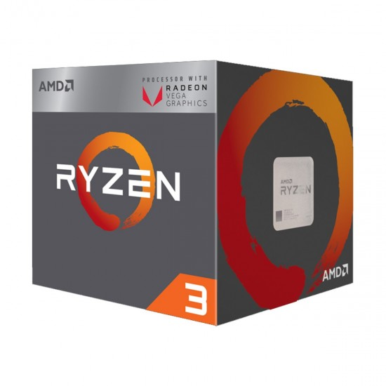 AMD Ryzen 3 2200G 3.5GHz-3.7GHz 4 Core 6MB Cache AM4 Socket Processor