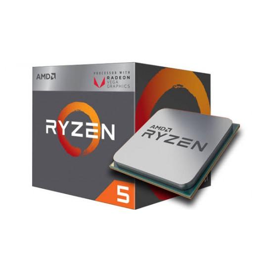 AMD Ryzen 5 2400G 3.6-3.9 Ghz 4 Core 6MB Cache AM4 Socket Processor