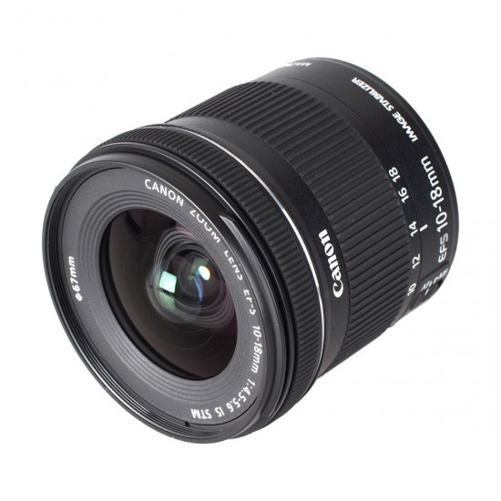 Canon EF-S 10-18mm f 4.5-5.6 IS STM Camera Lens