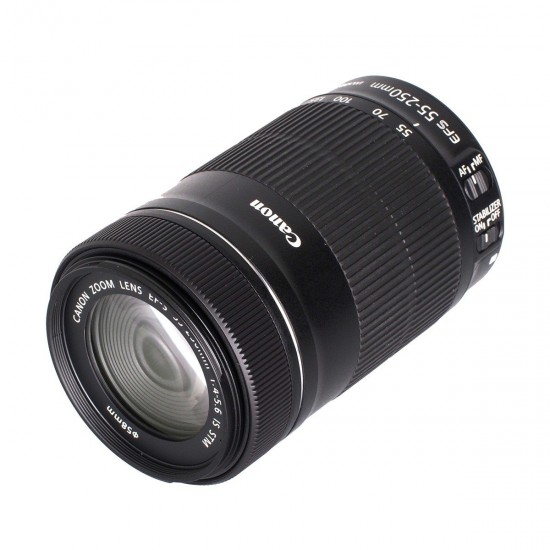 Canon EF-S 55-250mm F4-5.6 IS STM Camera Lens