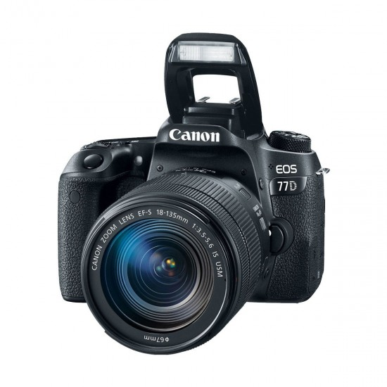 Canon EOS 77D Digital SLR Camera Body With EF-S 18-135mm f 3.5-5.6 IS USM Lens