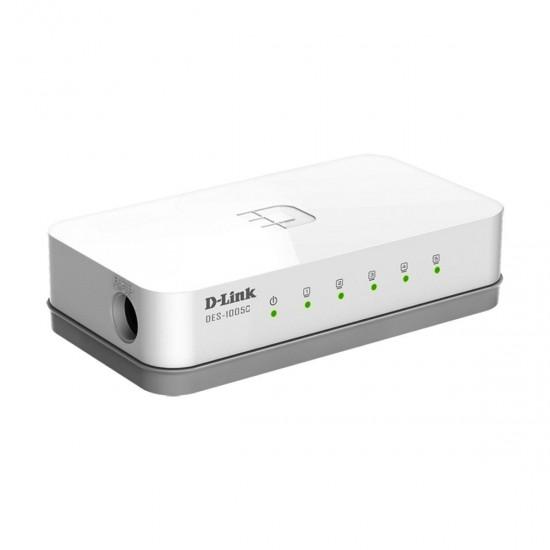 D Link DES 1005C 5 Port Switch