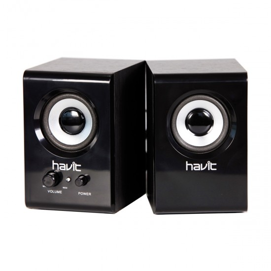 Havit SK490 USB Wooden AC Power Black Speaker