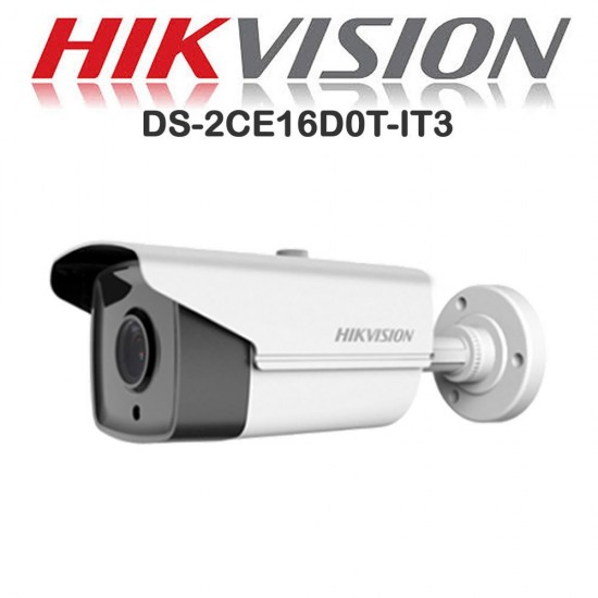 Hikvision DS-2CE16D0T-IT3F 6mm 2.0MP IR Ranage 40 Meter Outdoor HD upto 1080p Bullet CC Camera