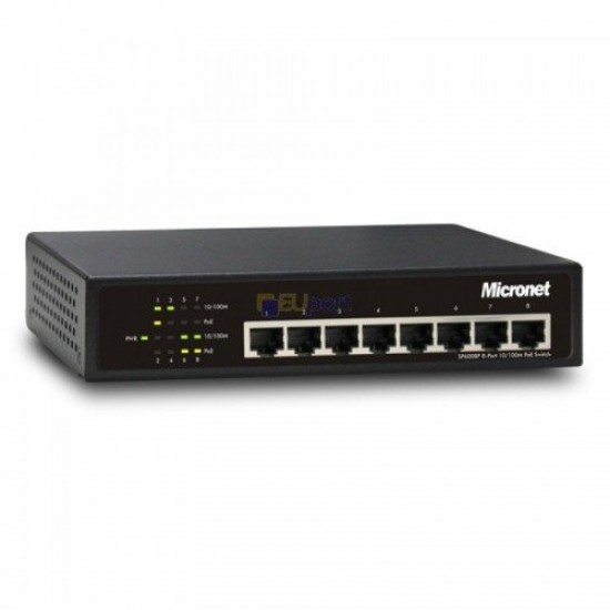 Micronet SP6008P 10 100 Mbps 8 Port Unmanage PoE Switch