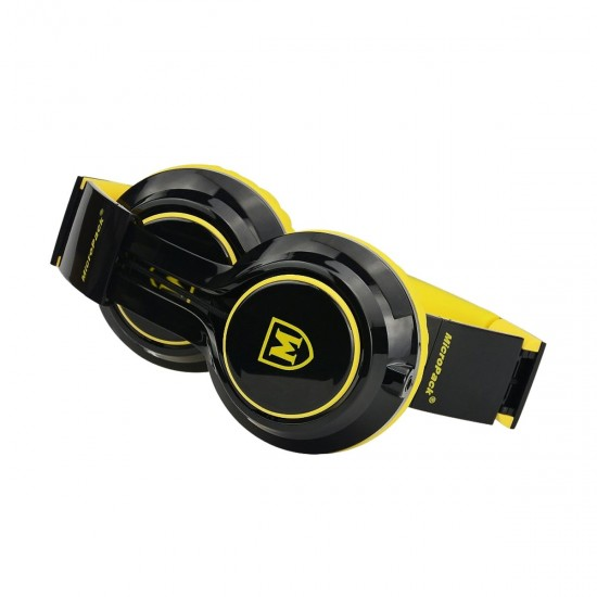 Micropack MHP 500 Stereo Headset With Detachable 4 Pin Black and Yellow