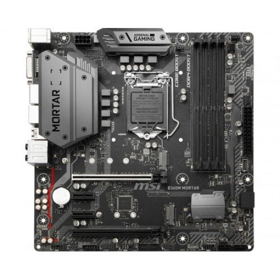 MSI B360M Mortar 9th and 8th Gen DDR4 Micro ATX Motherboard