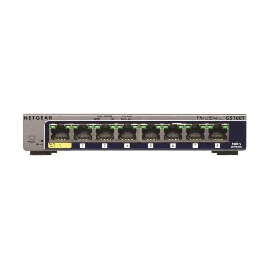 Netgear GS108T 8 Port ProSafe Gigabit Manage Desktop Switch