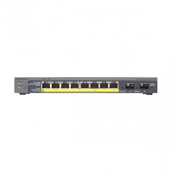 Netgear Prosafe GS110TP 8 Port Gigabit POE Smart Switch
