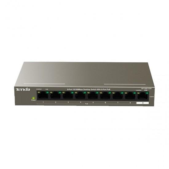 Tenda TEF1109P 9 Port 8Port PoE 10 100Mbps Desktop Switch