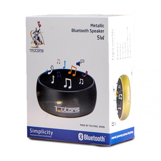 Teutons Simplicity 5W Metallic Bluetooth Silver Speaker