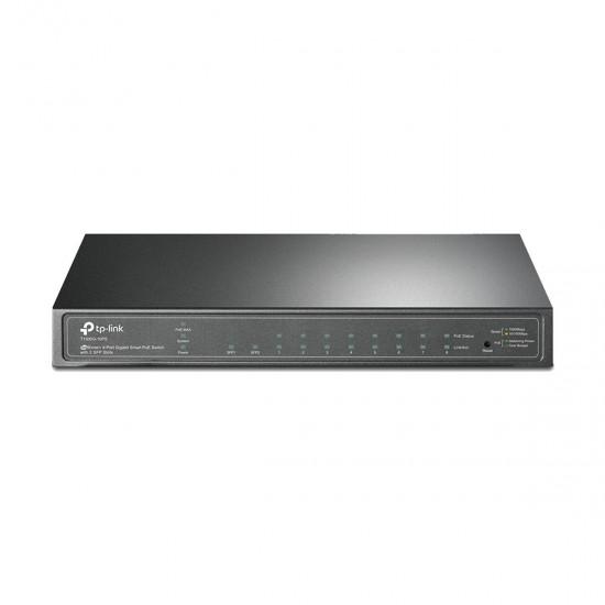 Tp-Link T1500G10PS TL SG2210P JetStream 8-Port Gigabit Smart PoE Switch with 2 SFP Slots