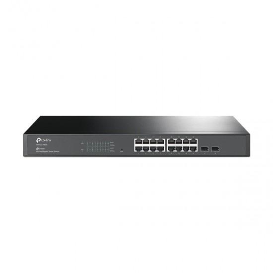 Tp Link T1600G 18TS Jetstream 16 Port Gigabit Smart Switch with 2 SFP Slots